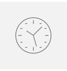 Wall clock line icon vector