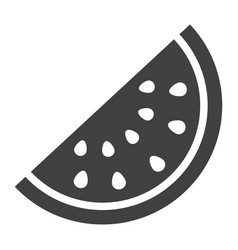 Watermelon solid icon fruit and diet vector