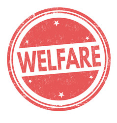 welfare sign or stamp vector image