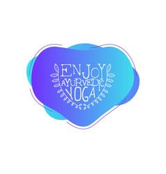 yoga studio template enjoy ayurvedic design vector image