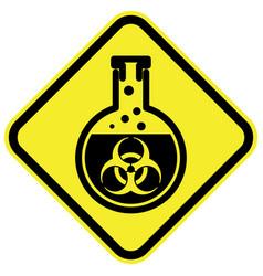 bio hazard warning sign vector image