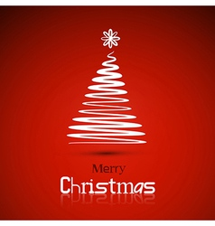 Christmas theme red background vector image vector image