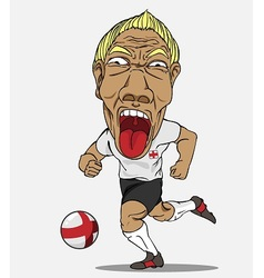 Soccer player England vector image vector image