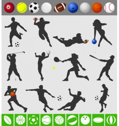 sports with a ball vector image