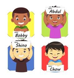 Boys Name 2 vector image vector image
