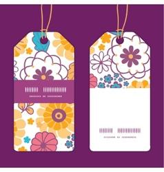 colorful oriental flowers vertical stripe vector image vector image