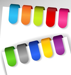 Colorful paper tags vector image vector image