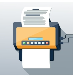 Fax icon in flat design long shadow style vector image vector image