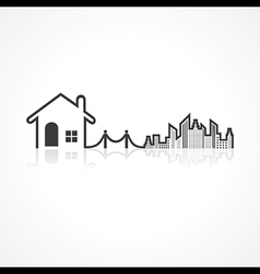 Real Estate background for sale property concept vector image