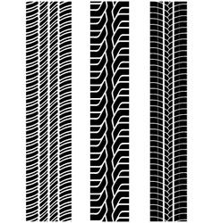 tread of cars 2 vector image