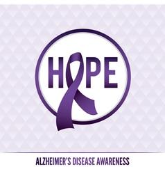 Alzheimers Awareness Badge vector image vector image