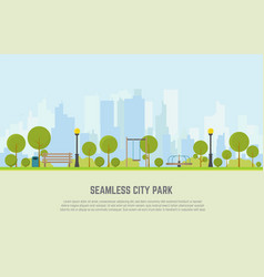 city park seamless background vector image vector image