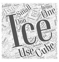 Ice cube tray word cloud concept vector
