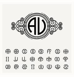 modern emblem badge template luxury elegant vector image