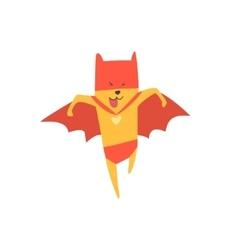 Super Hero Cat Running vector image
