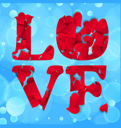 abstract love word happy valentines day greeting vector image vector image