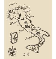 Italian old map sketch vector image