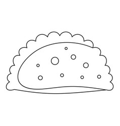 patty icon outline style vector image