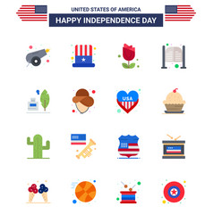 16 flat signs for usa independence day adobe day vector