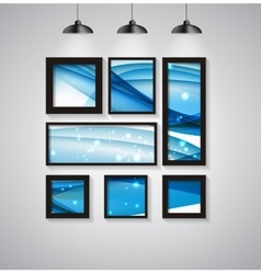Abstract Gallery Background with Frame and vector