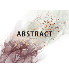 Abstract pastel neutral poster marble ink trendy vector