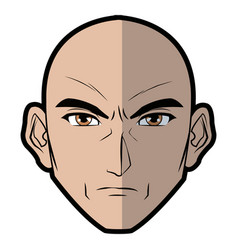 anime style male character head vector image
