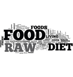 b raw food diet b text word cloud concept vector image