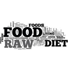 B raw food diet b text word cloud concept vector