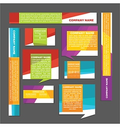 Banners and cards vector