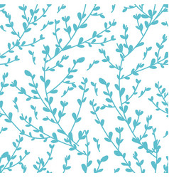 blue floral branches with tender leaves vector image