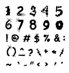 Bold biology font vector
