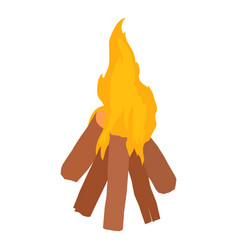 bonfire icon isometric style vector image