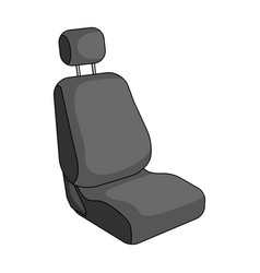 Car seatcar single icon in monochrome style vector