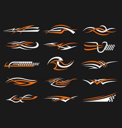 car stripes vinyl stylized graphics templates vector image