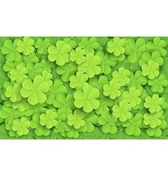 Cartoon of Green fresh clovers vector
