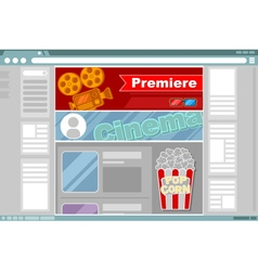 Cinema site interface design vector