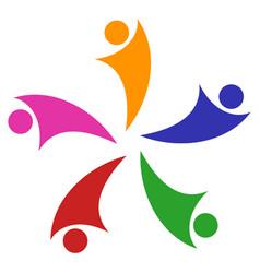 collaboration logo icon vector image