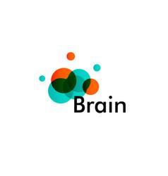 creative brain logo concept modern logotype for vector image