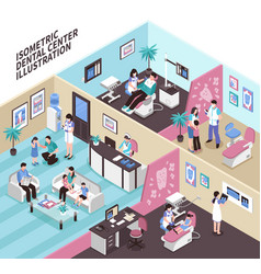 Dental center isometric vector