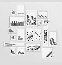 different pictire frames with simple grey vector image vector image