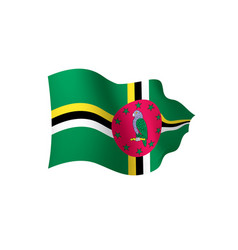 Dominica flag vector