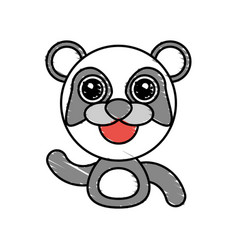 draw panda animal comic vector image