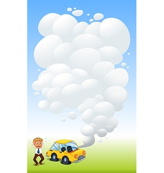 Flat Tire Car vector