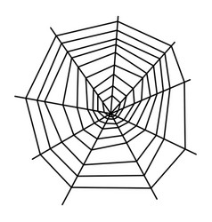 Formed spiderweb icon outline style vector