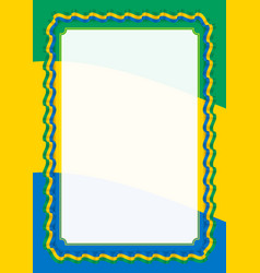 frame and border of ribbon with gabon flag vector image