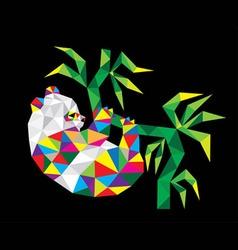 Geometric Panda vector image
