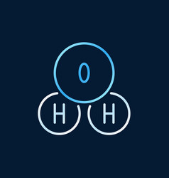 H2o colored linear chemistry icon water vector