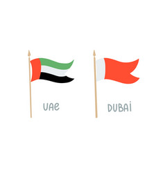 hand drawing flag united arab emirates and vector image
