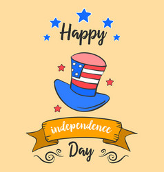 Happy indpendence day cute card vector
