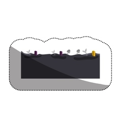 Isolated dirty water and pollution design vector